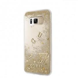 Capac Protectie Spate Guess Pentru Samsung S8 Colectia Liquid Glitter - Auriu