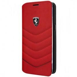 Book Ferrari Din Piele Pentru Samsung S8 Plus Colectia Heritage - Rosu