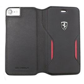 Book Ferrari Din Piele Pentru Iphone 7 Colectia Heritage Legend - Negru