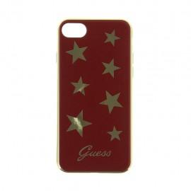 Capac Protectie Spate Guess Pentru Iphone 7 Colectia Stars - Rosu