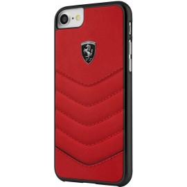 Capac Protectie Spate Ferrari Din Piele Pentru Iphone 7 Colectia Heritage - Rosu
