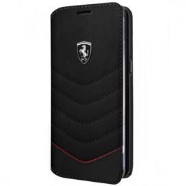 Book Ferrari Din Piele Pentru Samsung S8 Colectia Heritage - Negru