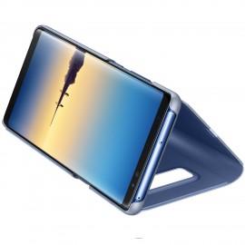 Book Clear View Standing Cover Samsung Pentru Samsung Galaxy Note 8 - Albastru