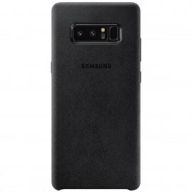 Capac Protectie Spate Samsung Alcantara Cover Pentru Samsung Galaxy Note 8 - Negru