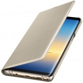Book Led View Samsung Pentru Samsung Galaxy Note 8 - Auriu