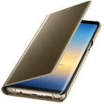 Book Clear View Standing Cover Samsung Pentru Samsung Galaxy Note 8 - Auriu