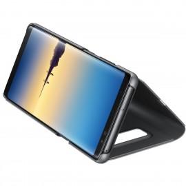 Book Clear View Standing Cover Samsung Pentru Samsung Galaxy Note 8 - Negru