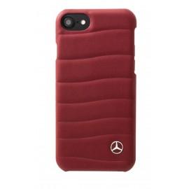 Capac Protectie Spate Mercedes Din Piele Pentru iPhone 7 Colectia Bow I - Rosu