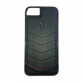 Capac Protectie Spate Ferrari Din Piele Pentru iPhone 7 Colectia Heritage - Negru
