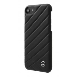 Capac Protectie Spate Mercedes Din Piele Pentru iPhone 7 Colectia Pattern Ii - Negru