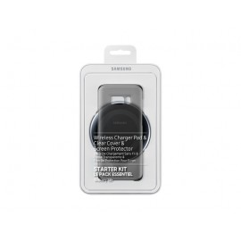Kit Vodafone Pentru Samsung S8 Plus - Capac Spate,folie Ecran Si Incarcator Wireless
