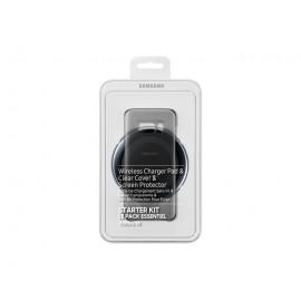 Kit Vodafone Pentru Samsung S8 - Capac Spate, Folie Ecran Si Incarcator Wireless