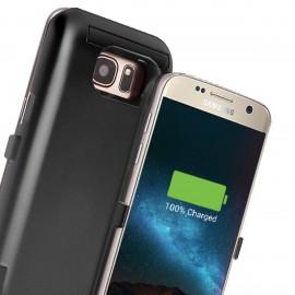 Capac Spate Cellara Cu Baterie Exetrna Incorporata Colectia Booster Pentru Samsung S7 Edge - Negru
