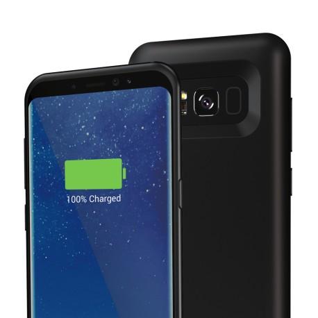 Capac Spate Cellara Cu Baterie Exetrna Incorporata Colectia Booster Pentru Samsung S8 Plus - Negru
