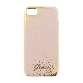 Capac Protectie Spate Guess Pentru iPhone 7 Colectia Dots - Roz