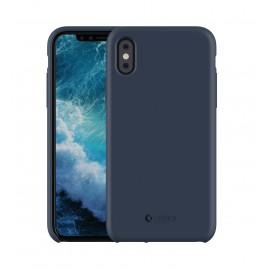 Capac Protectie Spate Cellara Din Silicon Colectia Soft Pentru iPhone X - Albastru