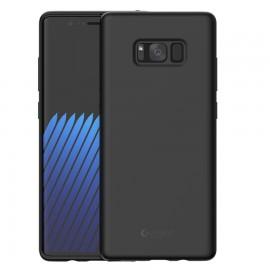 Capac Protectie Spate Cellara Din Silicon Colectia Soft Pentru Samsung Galaxy Note 8 - Negru