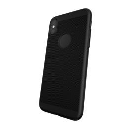 Capac Protectie Spate Cellara Colectia Dots Pentru iPhone X - Negru