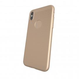 Capac Protectie Spate Cellara Colectia Dots Pentru iPhone X - Auriu