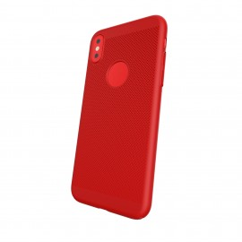 Capac Protectie Spate Cellara Colectia Dots Pentru iPhone X - Rosu