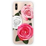 Capac Protectie Spate Guess Pentru Iphone X Colectia Flower Desire - Transparent