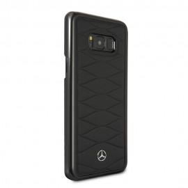 Capac Protectie Spate Mercedes Din Piele Pentru Samsung Galaxy S8 Colectia Pattern Iii - Negru