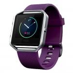 Smartwatch Fitness Fitbit Blaze Plumb Silver Marimea L - Mov