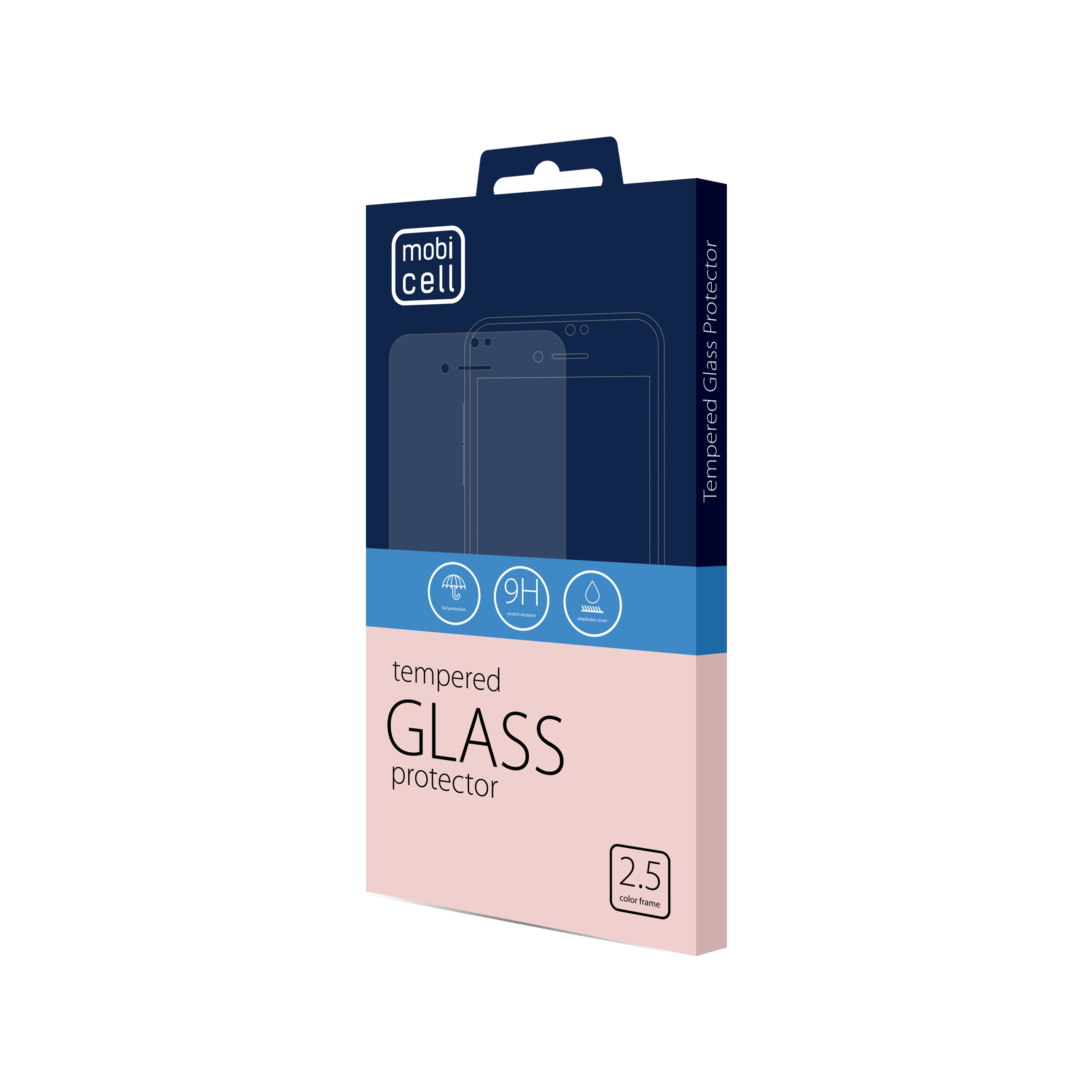 Folie protectie 2.5d full cover pentru iphone 12 mini - negru