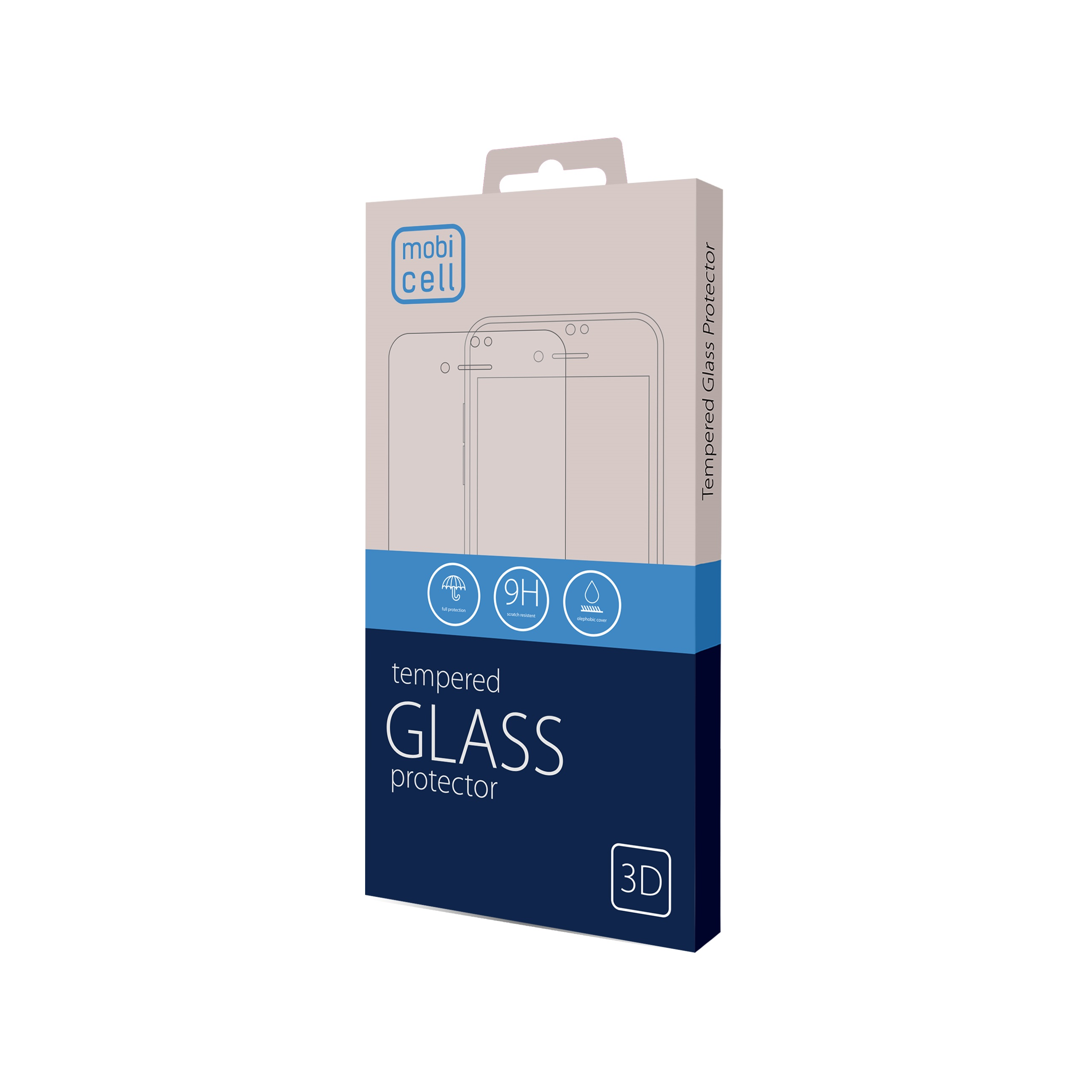 Folie protectie 3d full cover pentru iphone 12 mini - negru