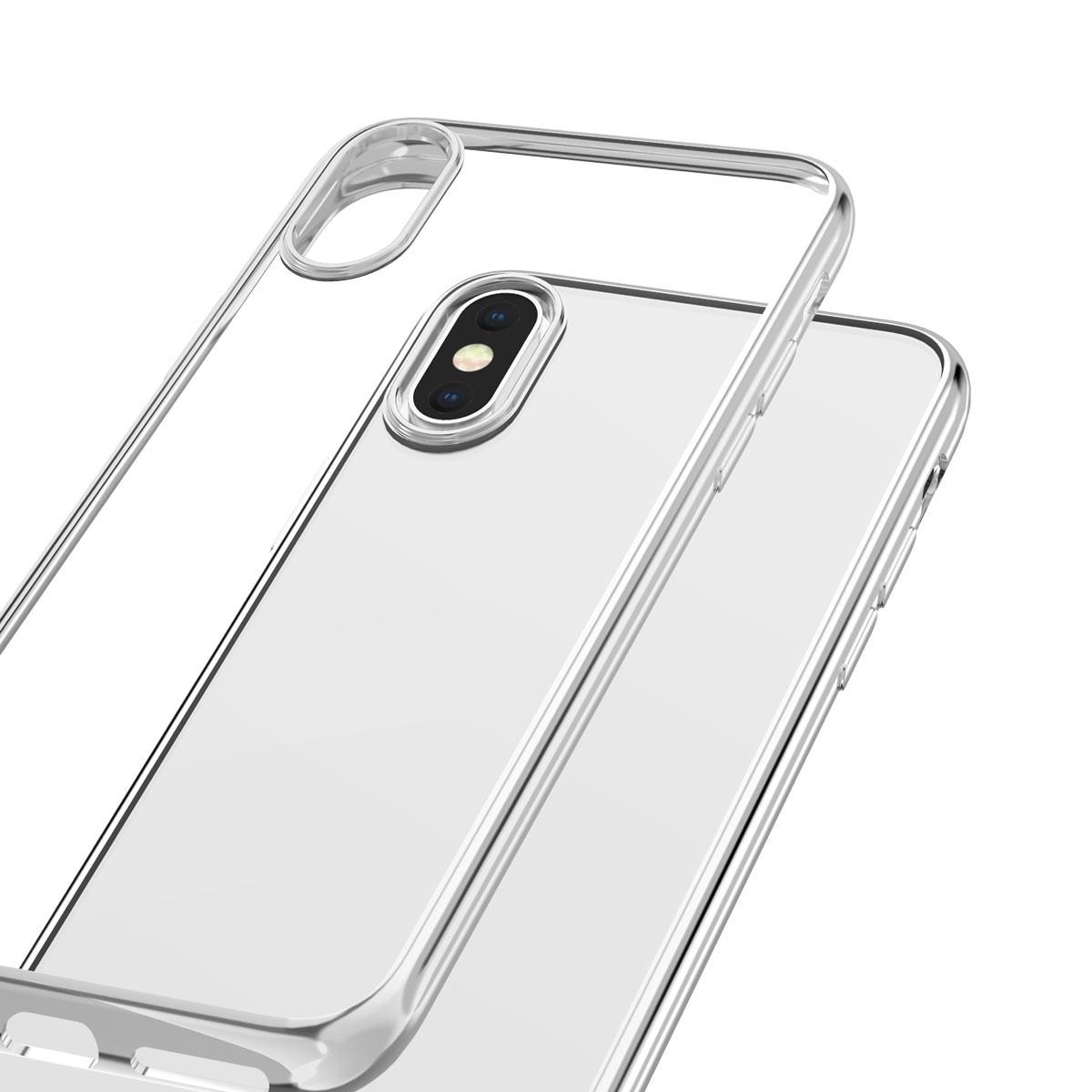 Capac protectie spate cellara colectia electro pentru iphone xs/iphone x - argintiu