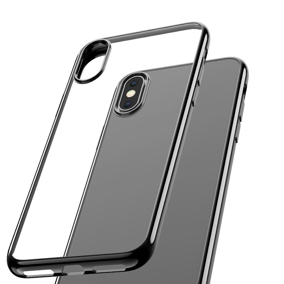 Capac protectie spate cellara colectia electro pentru iphone xs/iphone x - negru