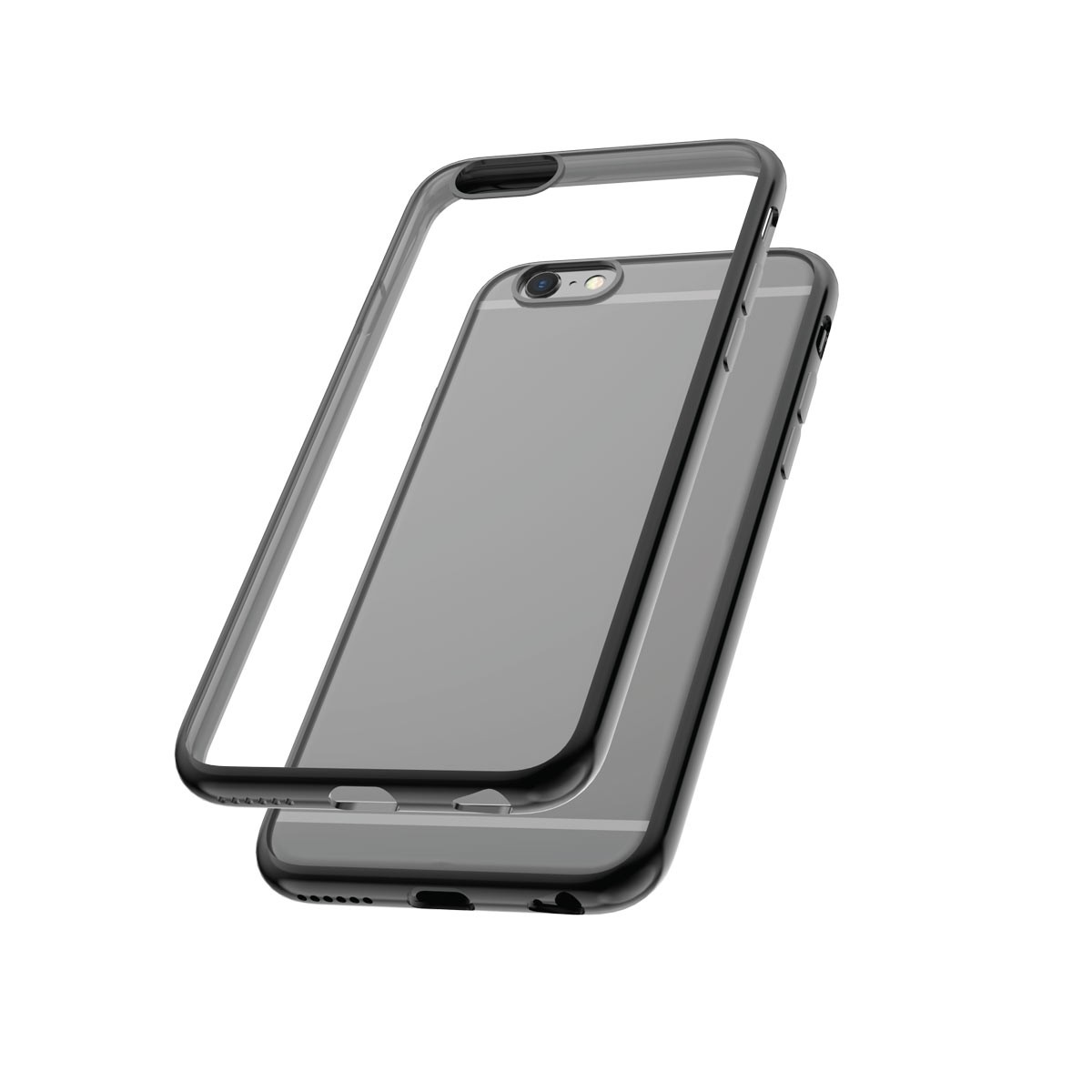 Capac protectie spate cellara colectia electro pentru iphone 6/6s - negru