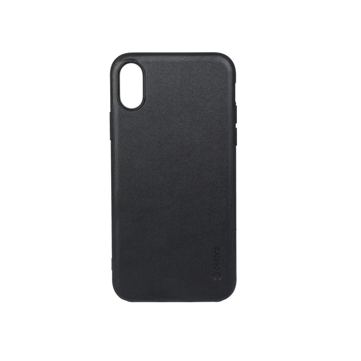 Capac protectie spate cellara colectia signature pentru iphone x/xs - negru