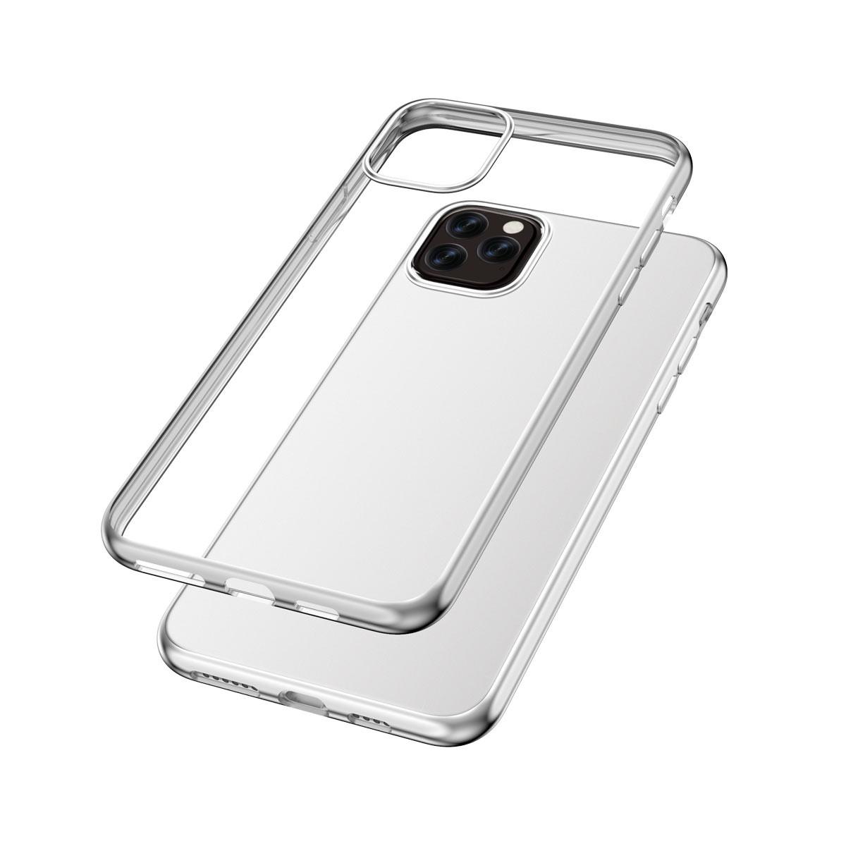 Capac protectie spate cellara colectia electro pentru iphone 11 pro max - argintiu