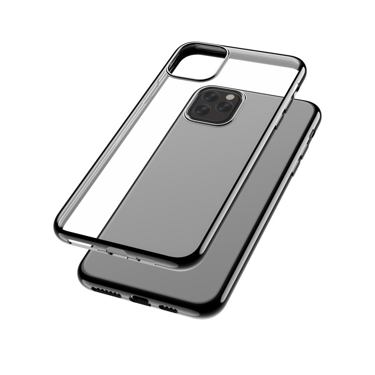 Capac protectie spate cellara colectia electro pentru iphone 11 pro max - negru