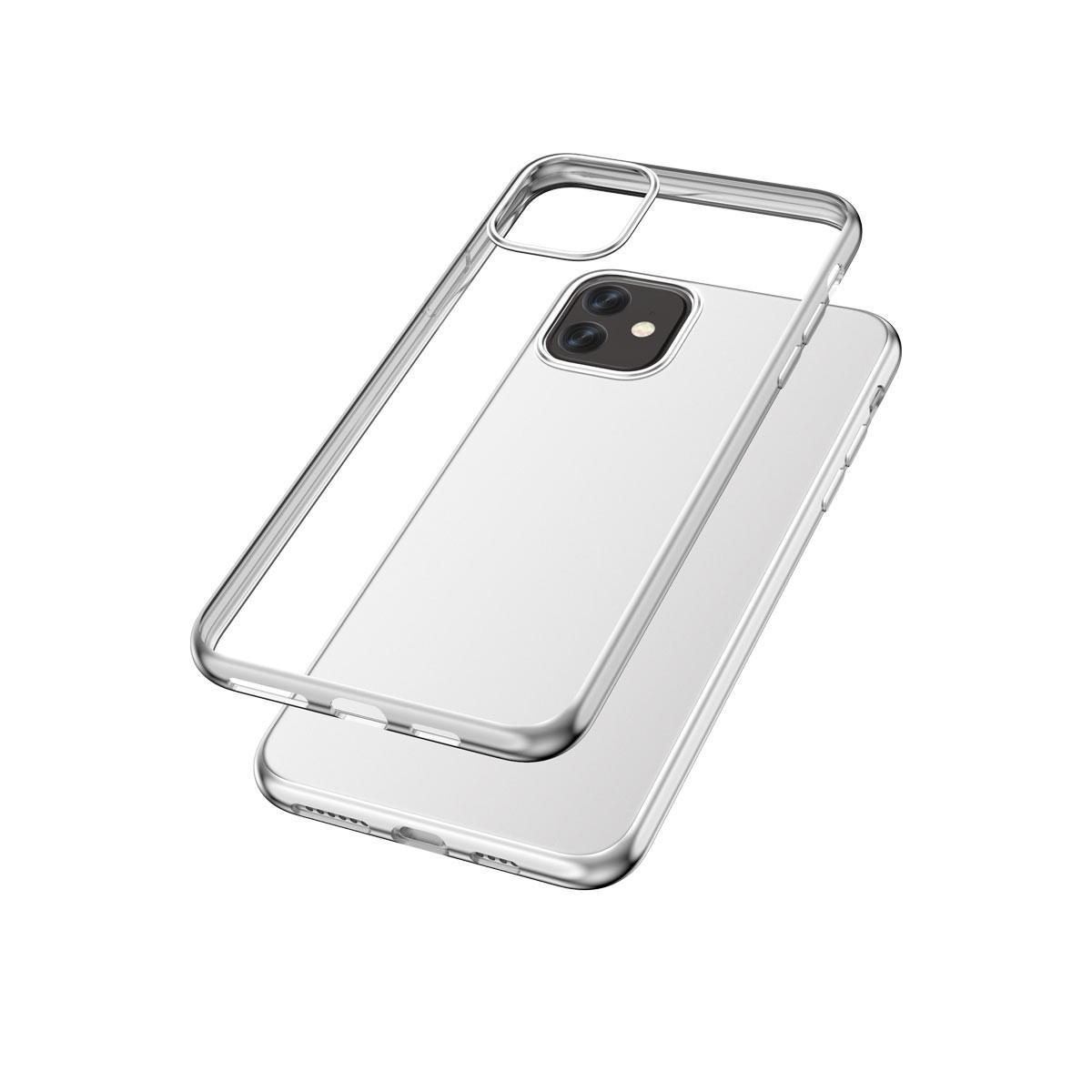 Capac protectie spate cellara colectia electro pentru iphone 11 - argintiu