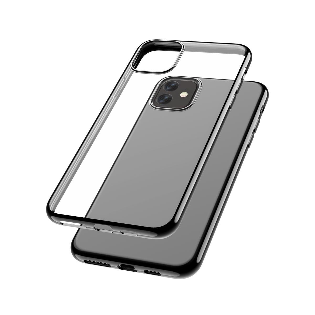 Capac protectie spate cellara colectia electro pentru iphone 11 - negru
