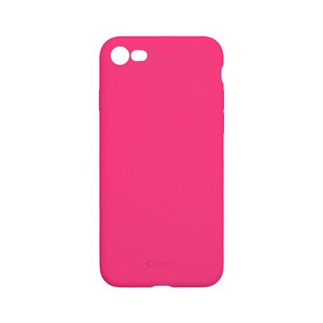 Capac protectie spate cellara din silicon colectia slim pentru iphone 7/8/se2 - fluorescent roz