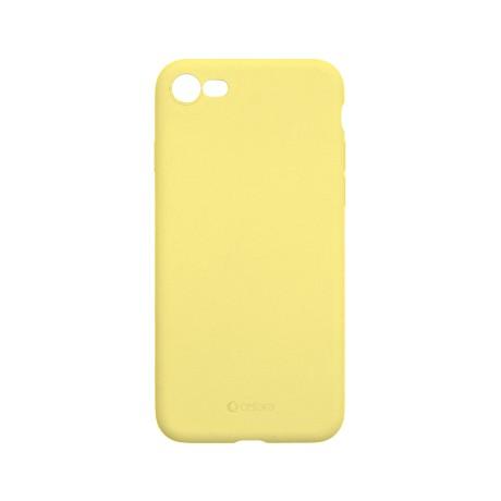 Capac protectie spate cellara din silicon colectia slim pentru iphone 7/8/se2 - galben