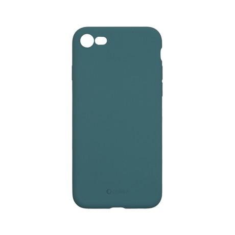 Capac protectie spate cellara din silicon colectia slim pentru iphone 7/8/se2 - verde inchis