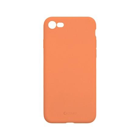 Capac protectie spate cellara din silicon colectia slim pentru iphone 7/8/se2 - portocaliu