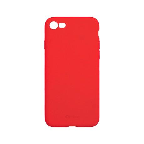 Capac protectie spate cellara din silicon colectia slim pentru iphone 7/8/se2 - rosu