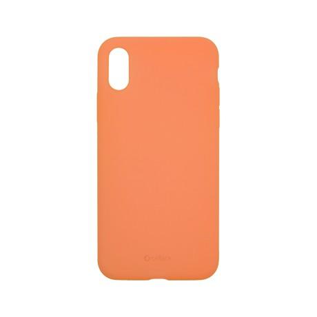 Capac protectie spate cellara din silicon colectia slim pentru iphone xs max - portocaliu
