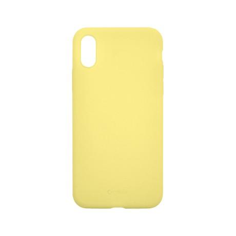 Capac protectie spate cellara din silicon colectia slim pentru iphone x/xs - galben