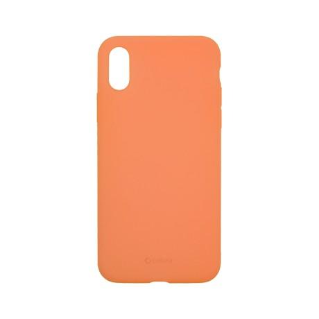 Capac protectie spate cellara din silicon colectia slim pentru iphone x/xs - portocaliu