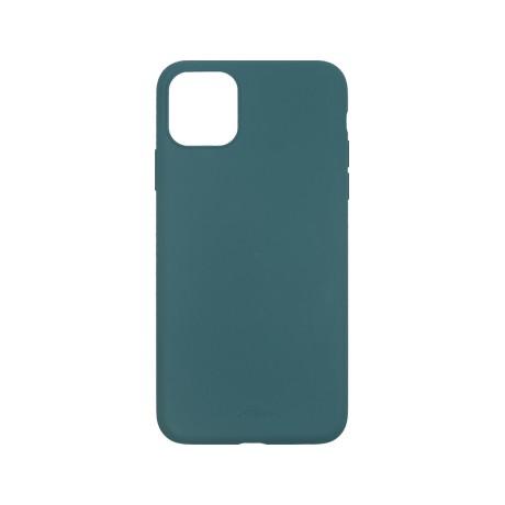 Capac protectie spate cellara din silicon colectia slim pentru iphone 11 pro max - verde inchis