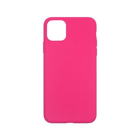 Capac protectie spate cellara din silicon colectia slim pentru iphone 11 pro max - fluorescent roz