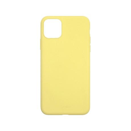 Capac protectie spate cellara din silicon colectia slim pentru iphone 11 pro - galben