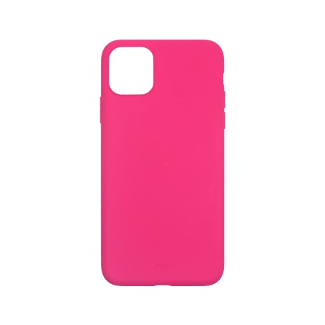Capac protectie spate cellara din silicon colectia slim pentru iphone 11 pro - fluorescent roz