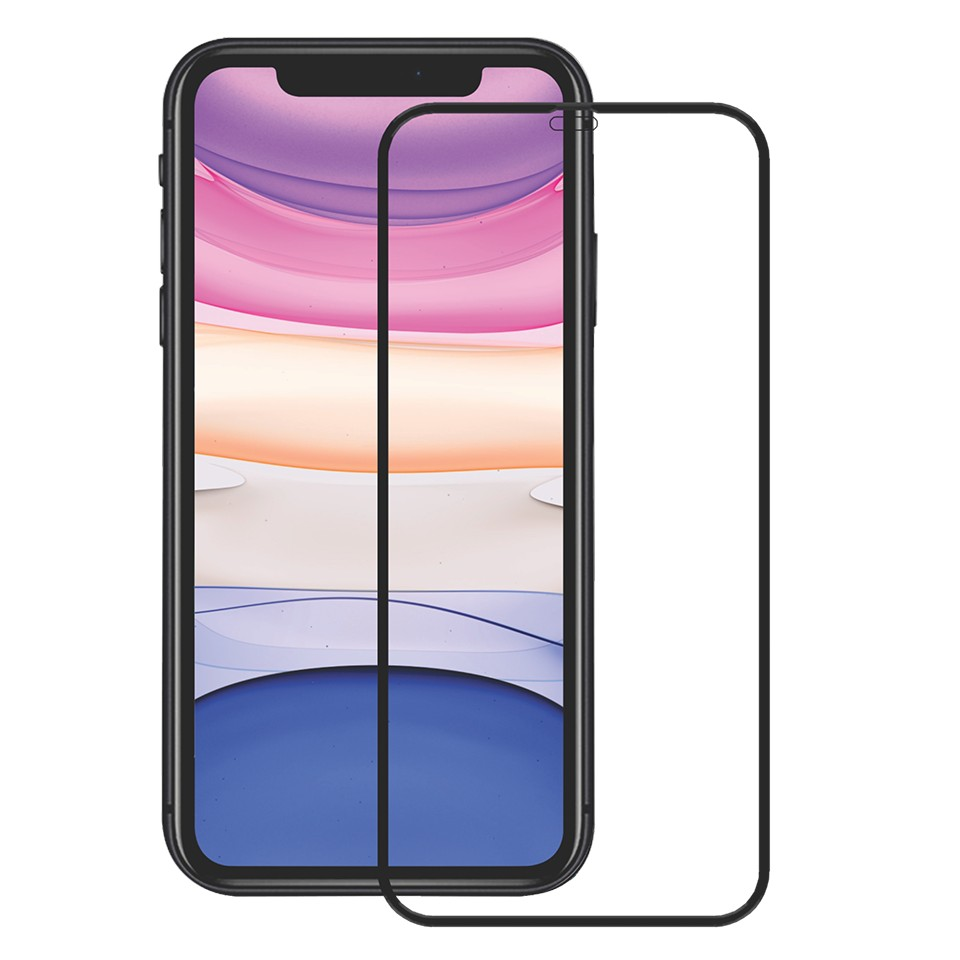Folie protectie ecran sticla 3d full cover cellara pentru iphone 12/12 pro - negru